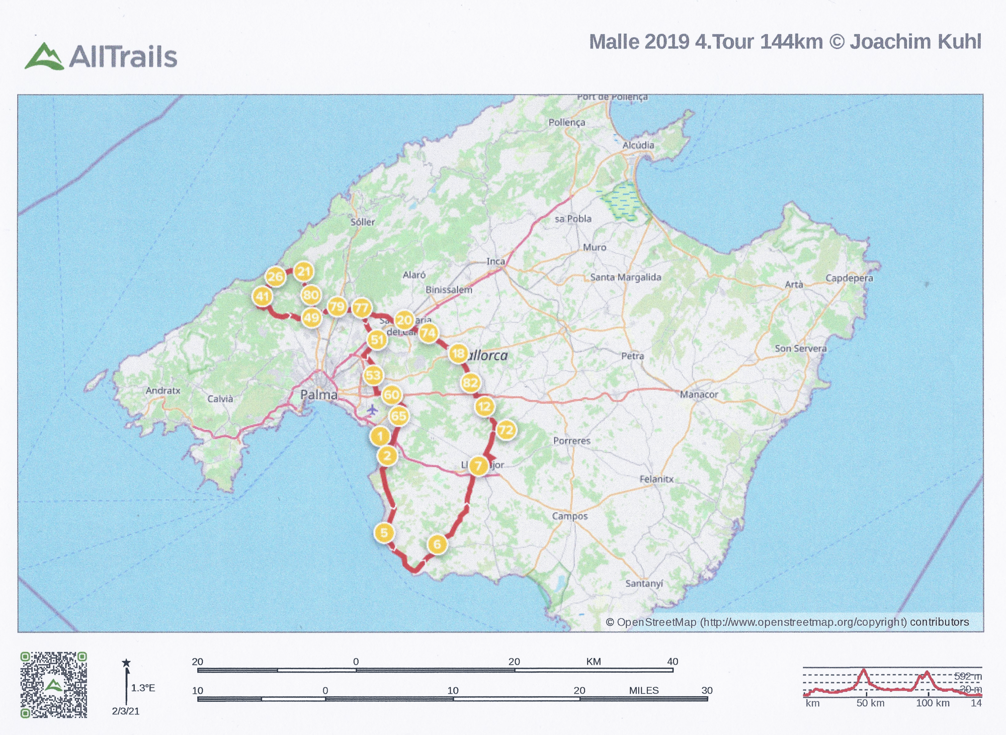 Tour-Planung auf Mallorca